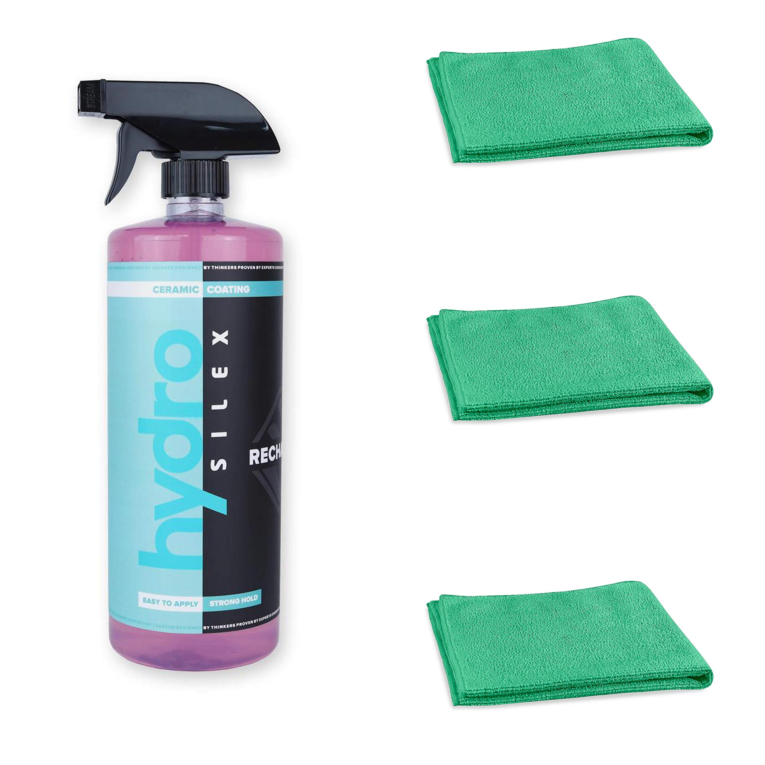 HydroSilex Recharge 32oz & 3 Microfiber Towels