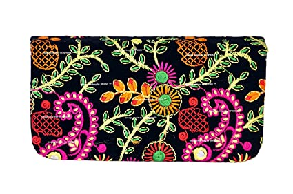 1298b2937d6 SPHINX Multicolored Handcrafted Embroidery Design Wallet/Hand-clutch for  Women/Girls - 1