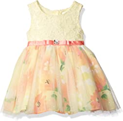 436960eb8 Sweet Heart Rose Baby Girls' Lace Bodice Floral Mesh Easter Dress