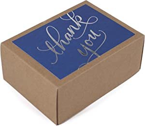 Hallmark Thank You Cards (Silver Foil Script, 40 Thank You Notes and Envelopes)