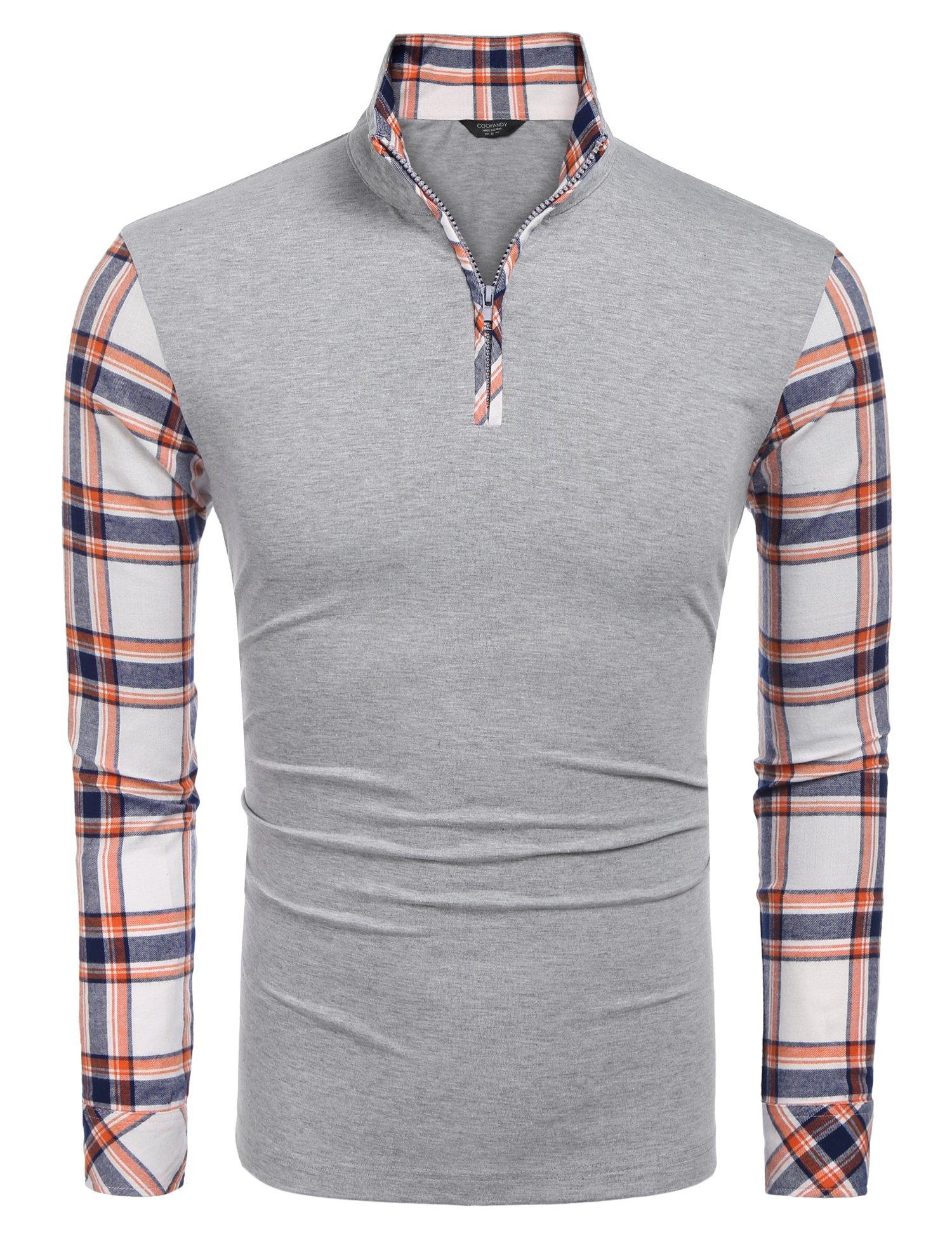 Coofandy Men's Stylish Design Shawl Collar Cardigan Sweater, Grey, Medium