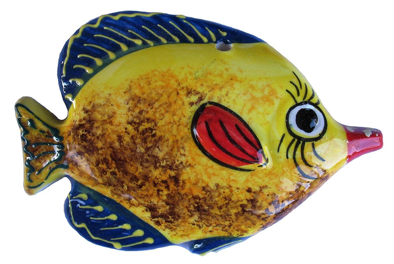 Amazon.com: Ceramic Fish Wall Hangers - Set of 3 Shapes (Yellow ...