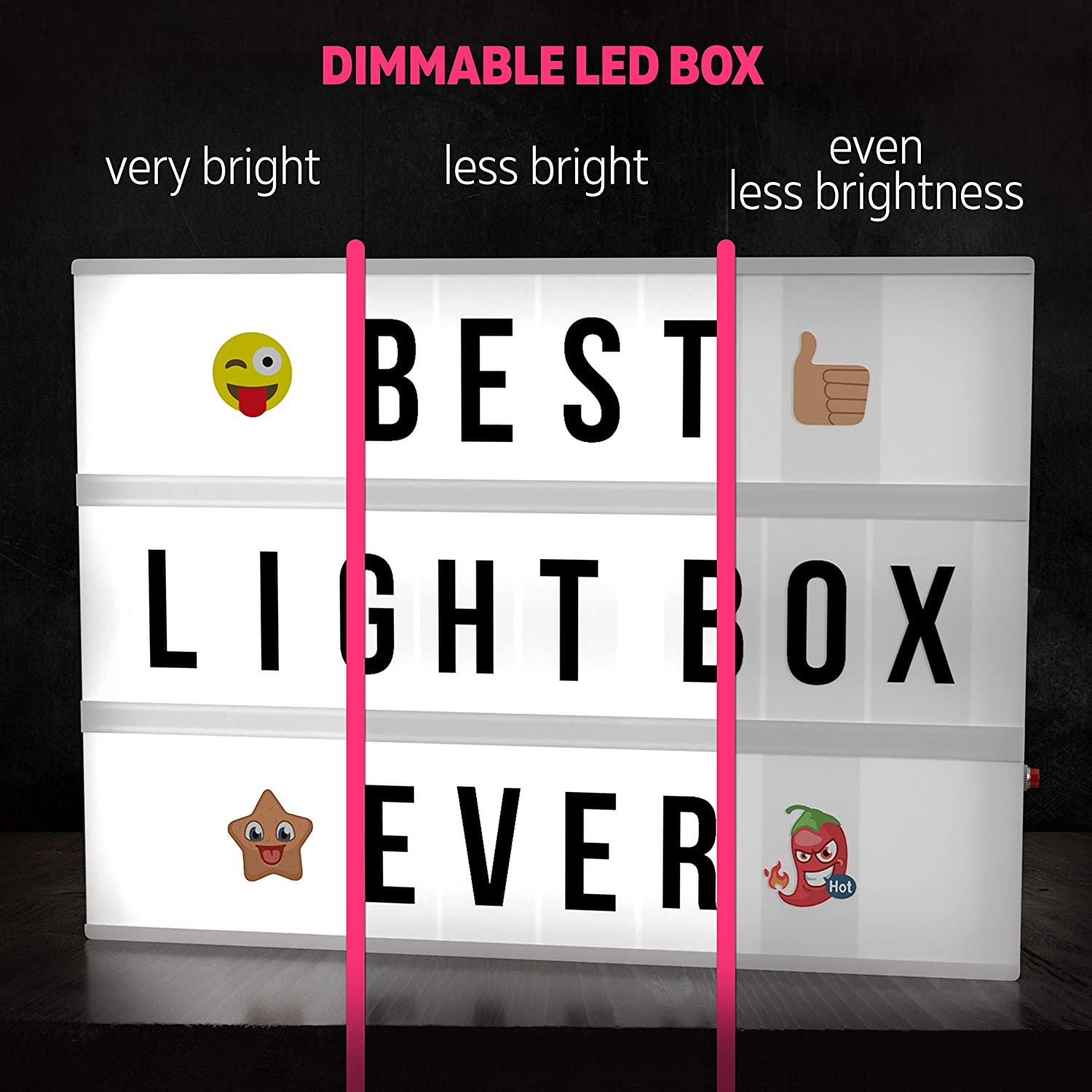 BRAND NEW BOXED  SMILING FACES Single Track Lightbox