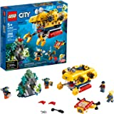 LEGO City Ocean Exploration Submarine 60264, with Submarine, Coral Reef Setting, Underwater Drone, Glow in The Dark…