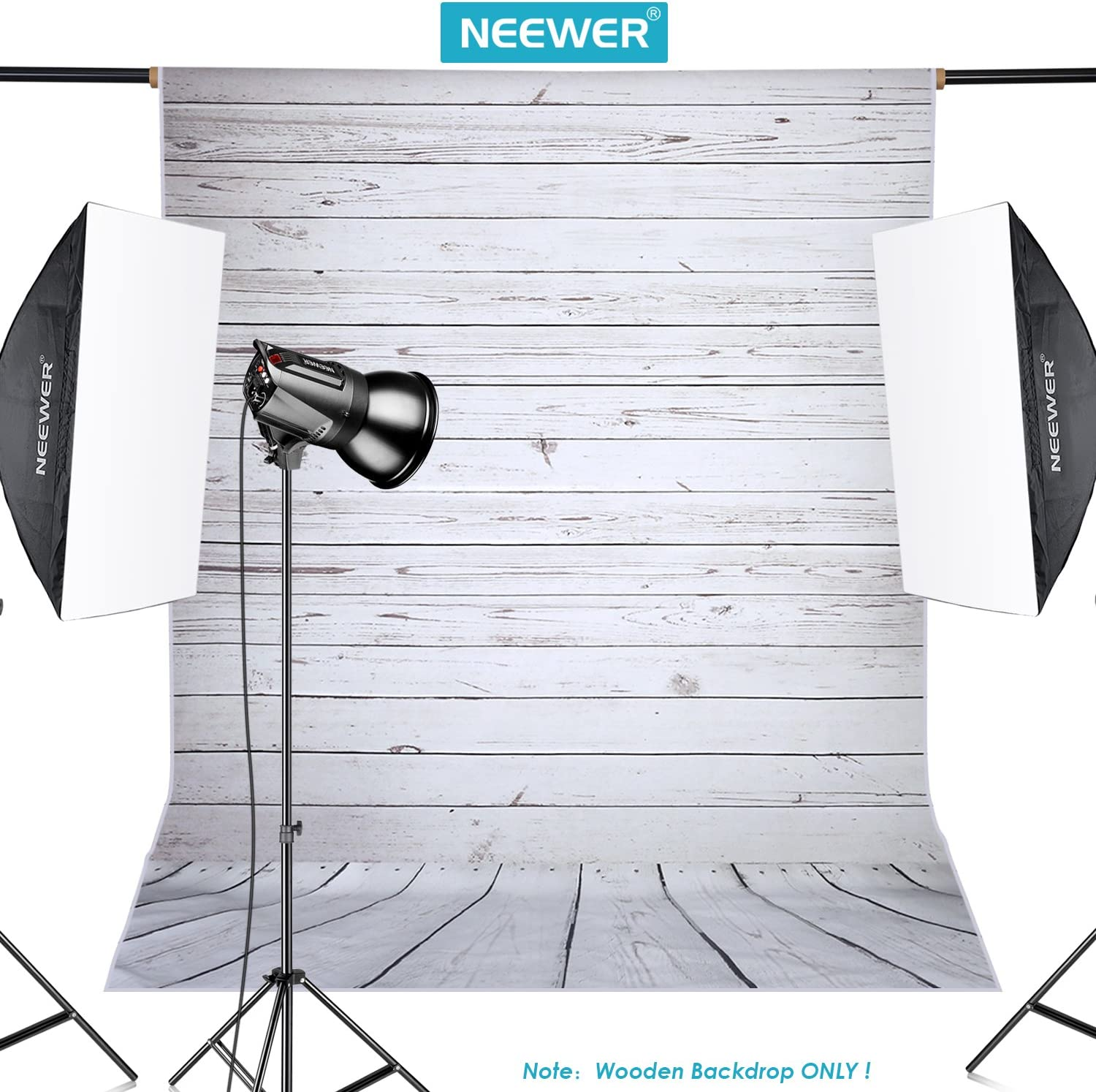Neewer/® 5x7ft//152x213/ cm Light Grey 100/% Polyester Wood Background Background Backdrop for Photography Studio Video Mount Only.