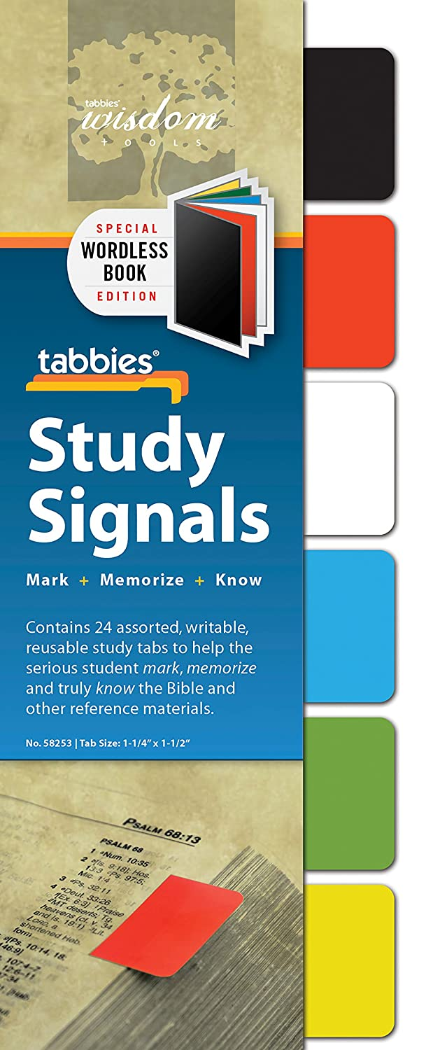 Tabbies Study Signals, Writable, Reusable Bold Asst. Colors, Mark Your Place & Flag Important Information, Transparent adhesive, 24 Tabs/Pack (58251) Xertrex International Non-Classifiable