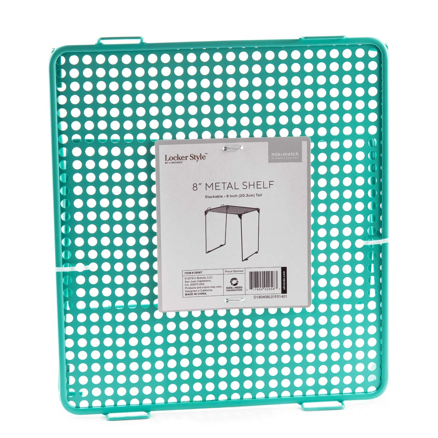 Mesh Metal Locker Shelf - Locker Style Teal, 8''