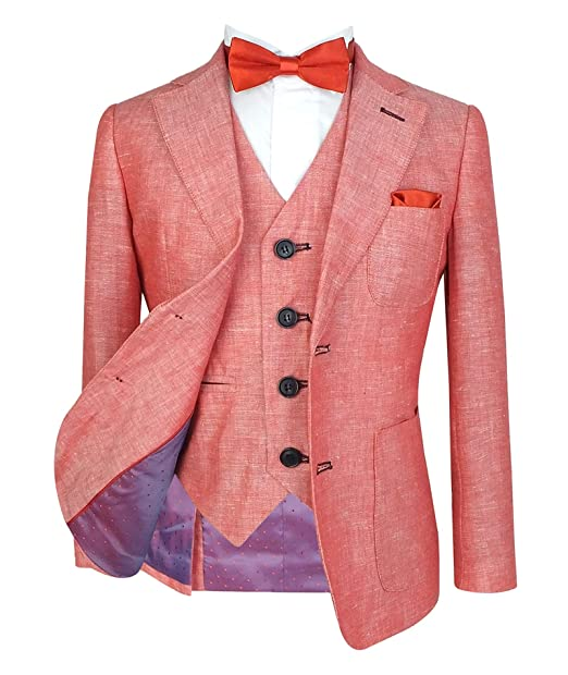 857de2ae3ef3 SIRRI Collezione di Abiti di Lino Estate 5 Pezzi Slim Fit per Ragazzi   Amazon.it  Abbigliamento
