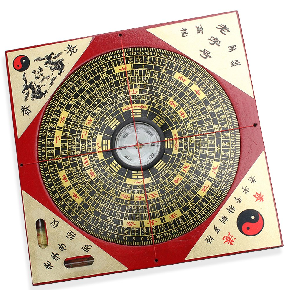 """FengShuiGe Chinese Feng Shui Luo Pan Tool Ancient Compass Good Luck 7.3"""""""