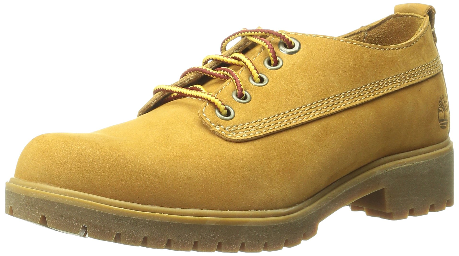 Timberland Women's Lyonsdale Lace Oxford, Wheat Nubuck, 8 M US