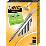 BIC Round Stic Xtra Life Ball Pen, Medium Point (1.0mm), Black, 36-Count
