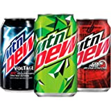 Soda Variety Pack with Mountain Dew, Dew Code Red, and Dew Voltage, 12 Fl Oz Cans, Pack of 18 (Packaging May Vary)