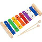 Upado Unlimited Glockenspiel Xylophone, Precision Tuned Handcrafted Musical Instrument Includes 2 Wooden Mallets and 12 Page Educational Music Pattern Song Book