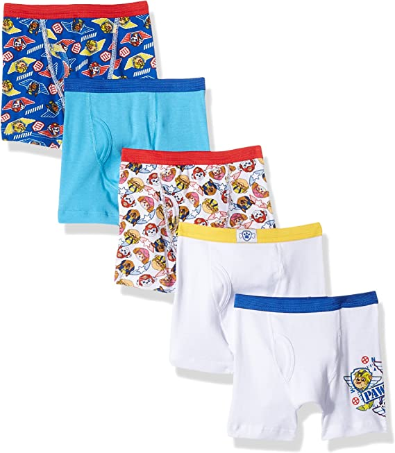 Nickelodeon Boys' Paw Patrol 5 Pack Boxer Brief