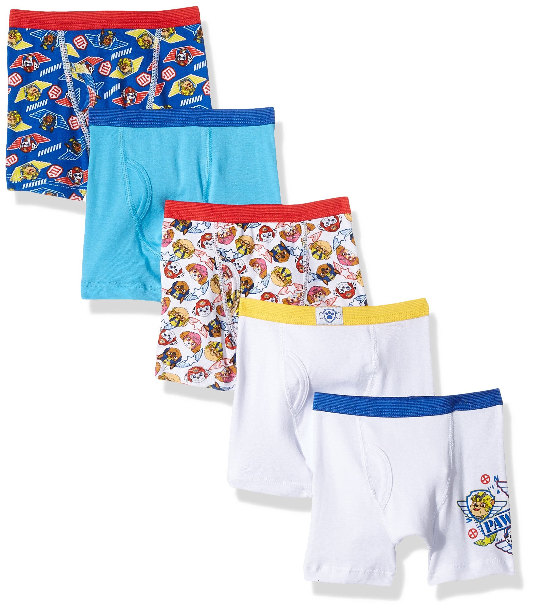 Nickelodeon Toddler Boys' Paw Patrol 5 Pack Boxer Brief, Assorted Prints, 4T