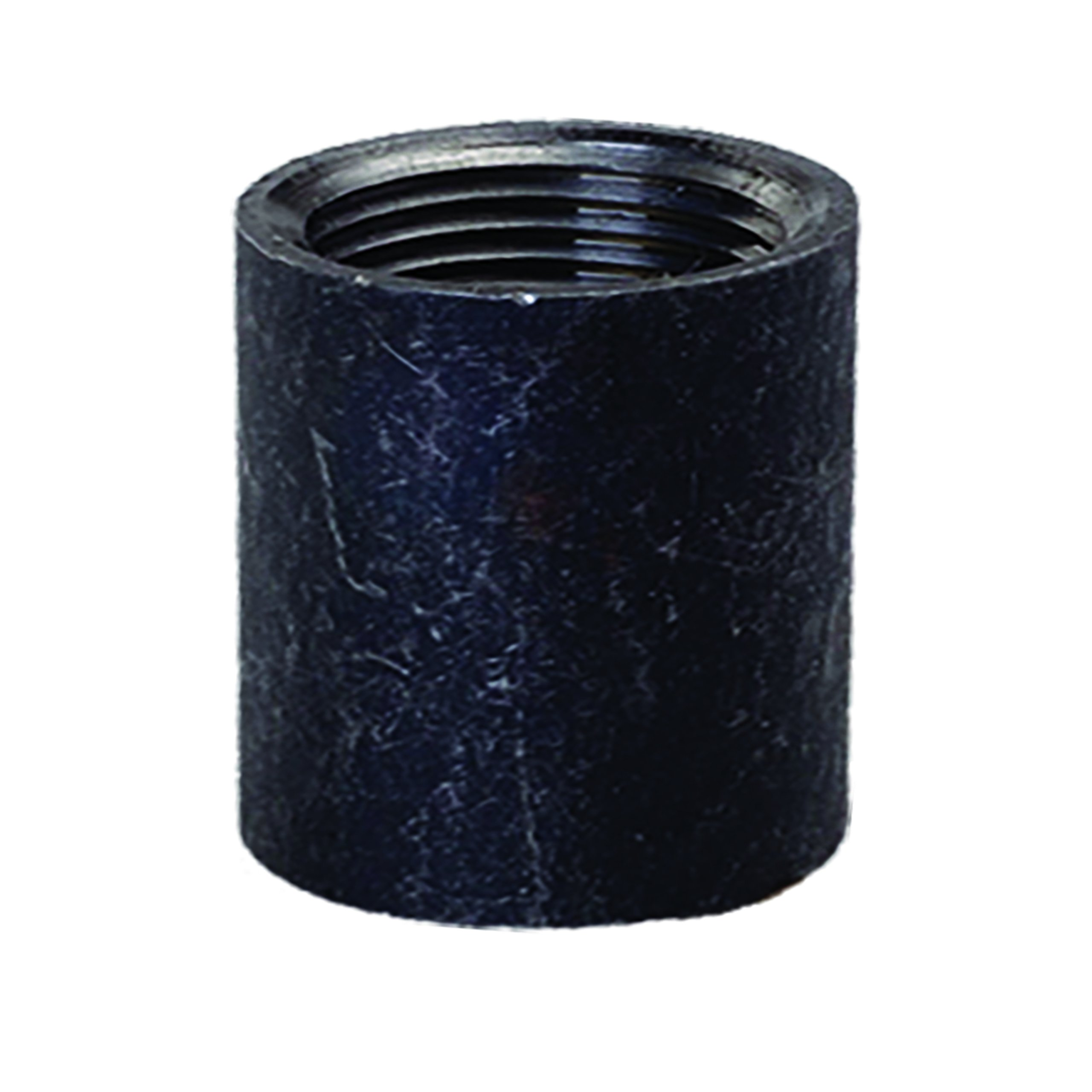 Everflow Supplies MTTHC600 6'' Black Merchant Steel Half Coupling with Female Connection with Tapered Tapped Thread