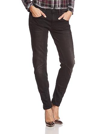 701d9febeb0e G-STAR Damen Boyfriend Jeans Arc 3D Low - intr blck strtch dnm  Amazon.de   Bekleidung
