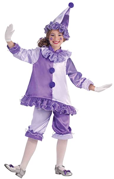 Forum Novelties Little Designer Collection Violet the Clown Child Costume, Large