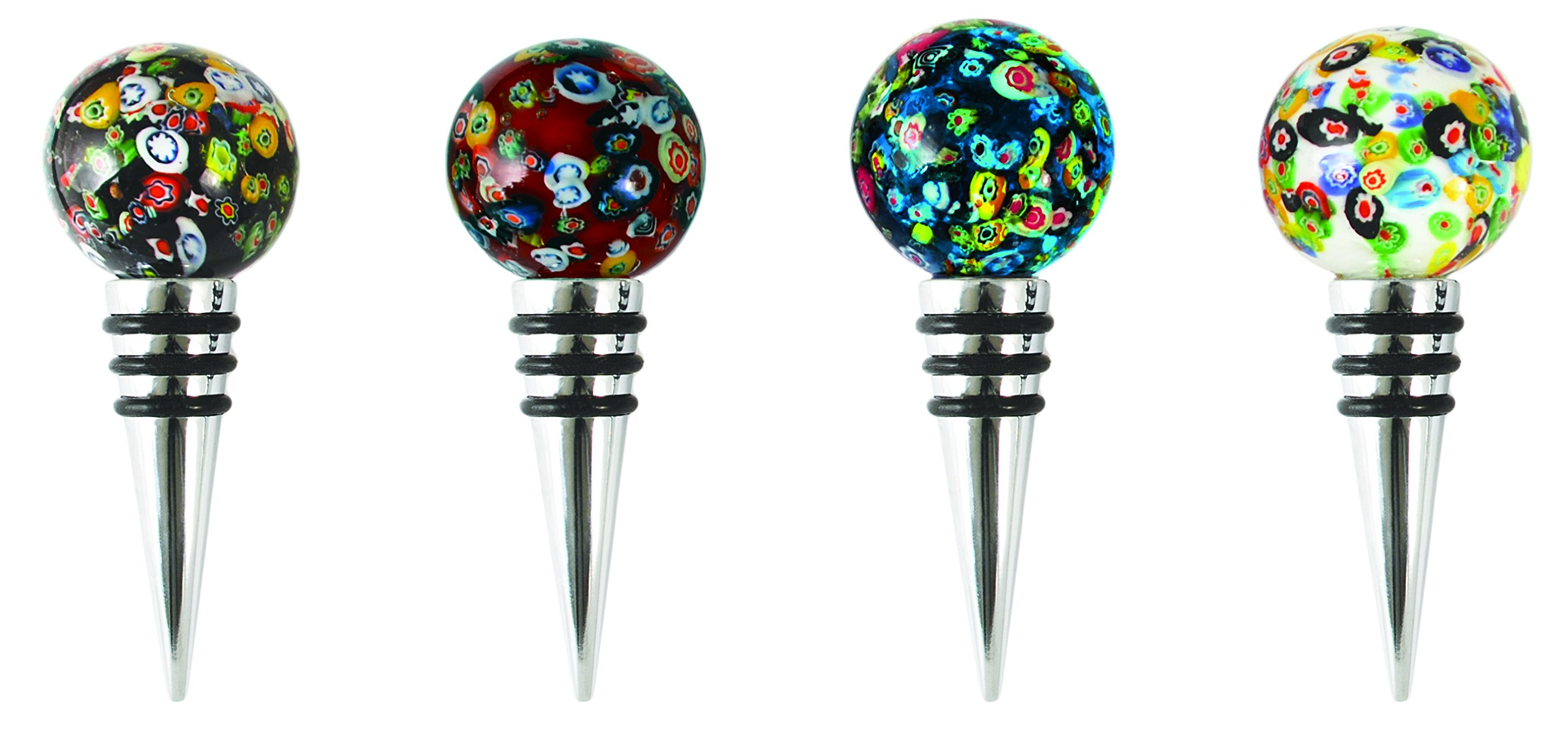 Blush Assorted Glass Globe Bottle Stoppers