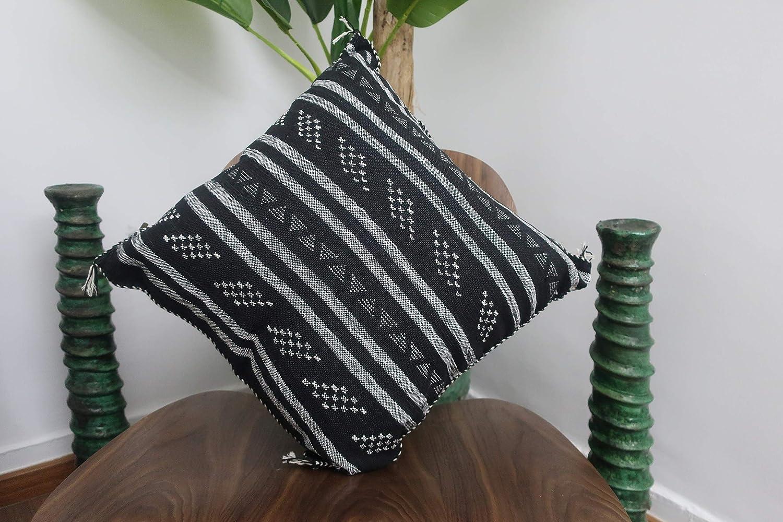 Amazon Com Handmade Moroccan Cactus Silk Throw Pillow 19 X 19 Handmade