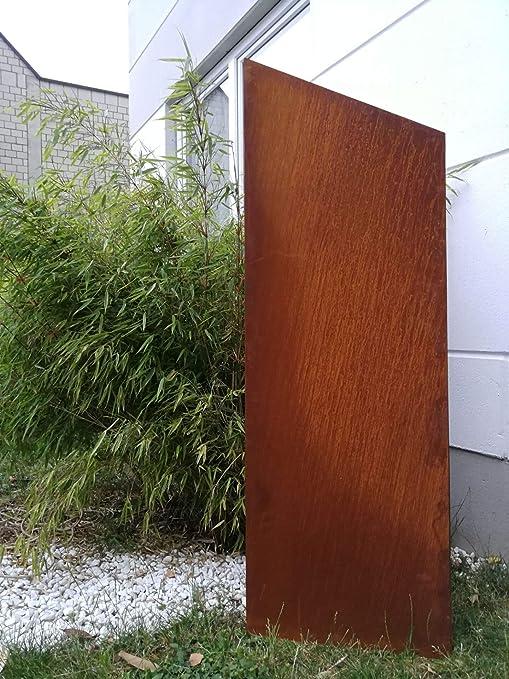 Zen Man - Valla de jardín de Metal Oxidado, 1 mm, Rejilla de jardín, decoración de jardín, Rejilla de protección Visual, 031997 150/125 x 50 cm: Amazon.es: Jardín