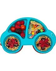 Qshare Kleinkind-Platte, tragbare Baby-Platten für Kleinkinder und Kinder, BPA-frei FDA-Zulassung Starke Saugplatten für Kleinkinder, Spülmaschinen- und mikrowellengeeignete