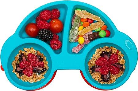 Qshare 100/% sans BPA et approuv/ées par la FDA Assiettes en silicone pour b/éb/és aspiration forte /à la table enfants en bas /âge et enfants lave-vaisselle et au micro-ondes