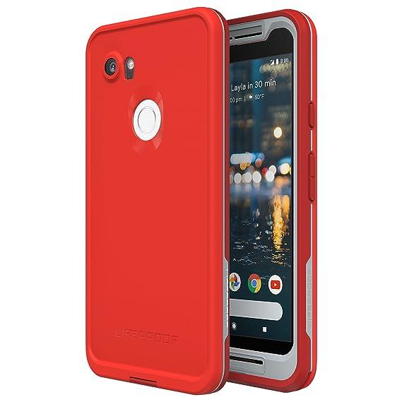online retailer 57d2b 6c629 Lifeproof FRĒ Series Waterproof Case for Google Pixel 2 XL - Retail  Packaging - FIRE Run (Cherry Tomato/Sleet/Molten Lava)