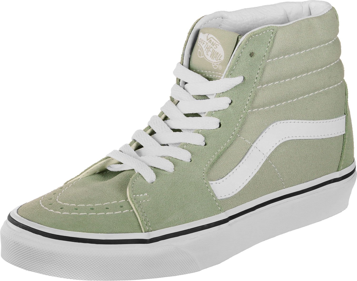 Vans Men's Sk8-Hi(Tm) Core Classics B078Y7CZF8 10.5 B(M) US Women / 9 D(M) US|Desert Sage True White