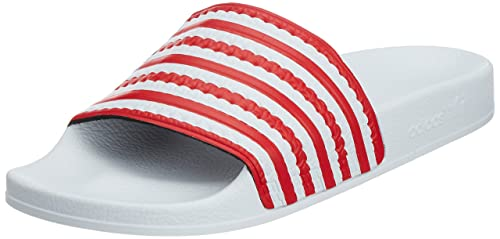 new style bfa30 10bf4 adidas Unisex – Adulto ADILETTE Flags scarpe da ginnastica, UOMO,  biancoblu