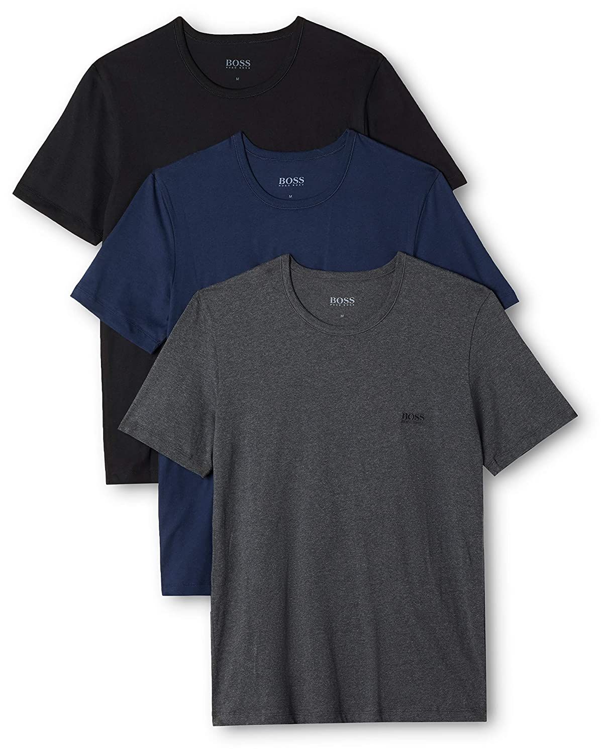 c480a407a Amazon.com: Hugo Boss Men's T-Shirt Rn 3p Co: Clothing