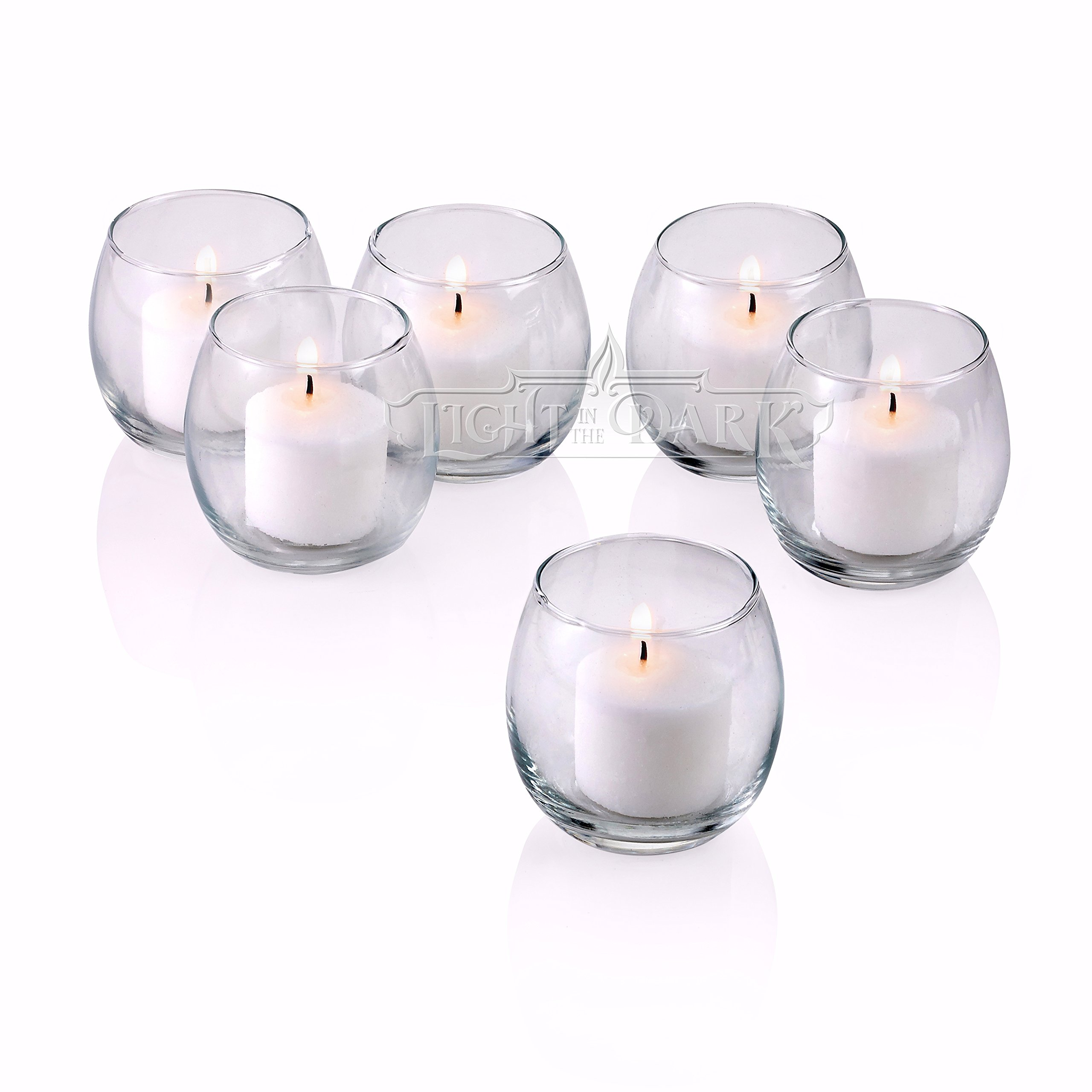 PARNOO Votive Candle Holders Bulk Set of 24 - Glass Votive Tealight Holders - Perfect for Wedding Centerpices, Home Decor (Hurricane Clear) by PARNOO (Image #3)