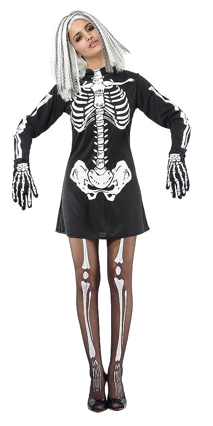 Costume scheletro donna Halloween Taglia Unica  Amazon.it  Giochi e ... 4f43bc914ac5