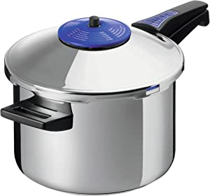 Kuhn Rikon Duromatic Supreme Stainless Steel Pressure Cooker with Long Handle, 3.5 Litre / 20 cm