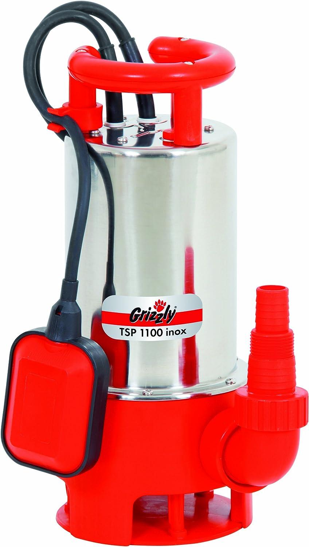 20000 l//h Grizzly Schmutzwasser Tauchpumpe TSP 1100 inox 1100 Watt