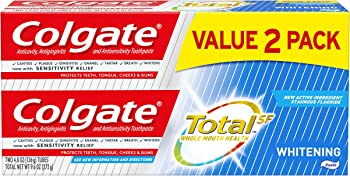 2-Pack Colgate Total Whitening Toothpaste 4.8 ounce