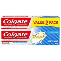 Colgate Total Whitening Toothpaste with Fluoride, Multi Benefit Toothpaste with...