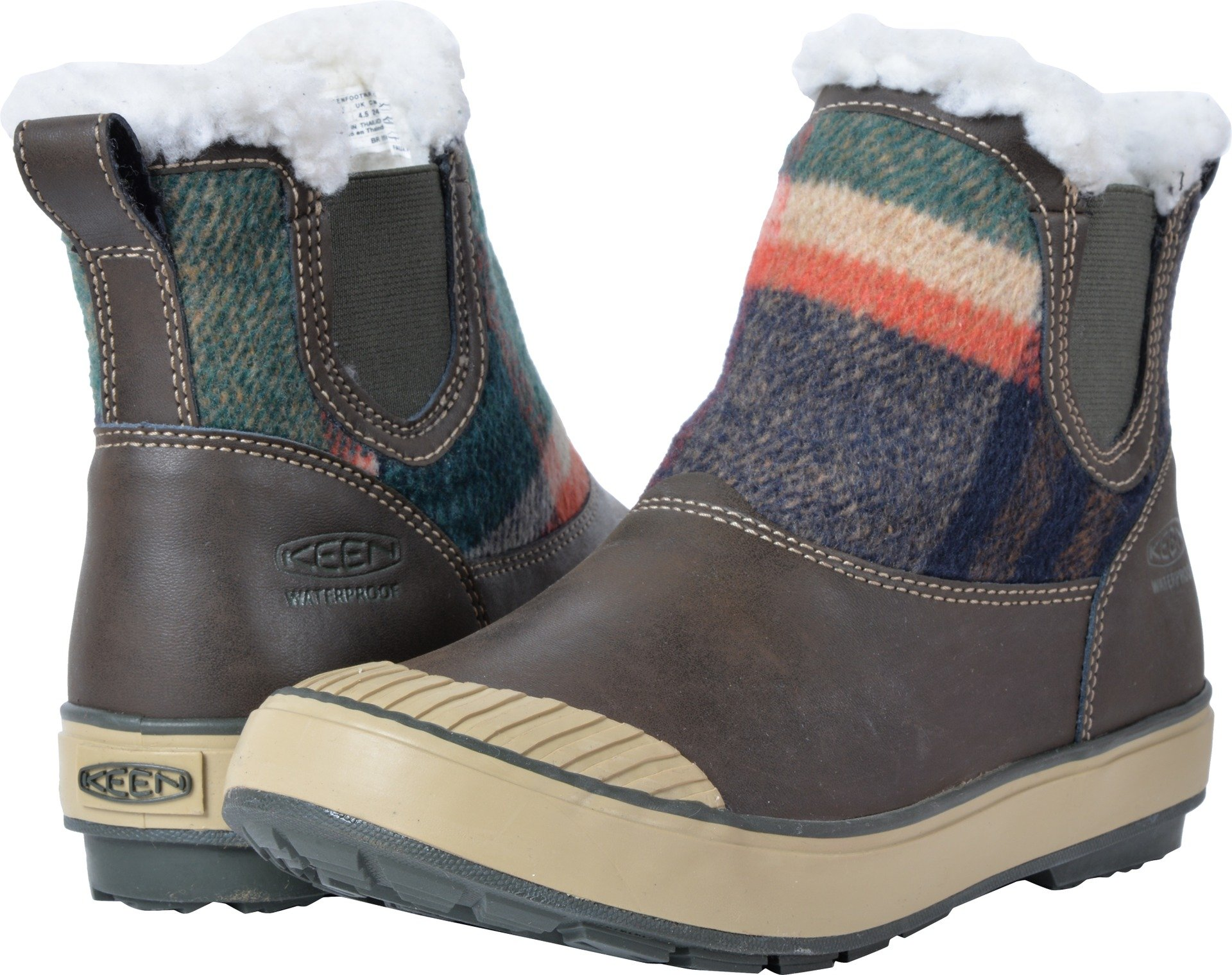 KEEN Women's Elsa Chelsea WP-w Snow Boot, Coffee Bean Wool, 9 M US