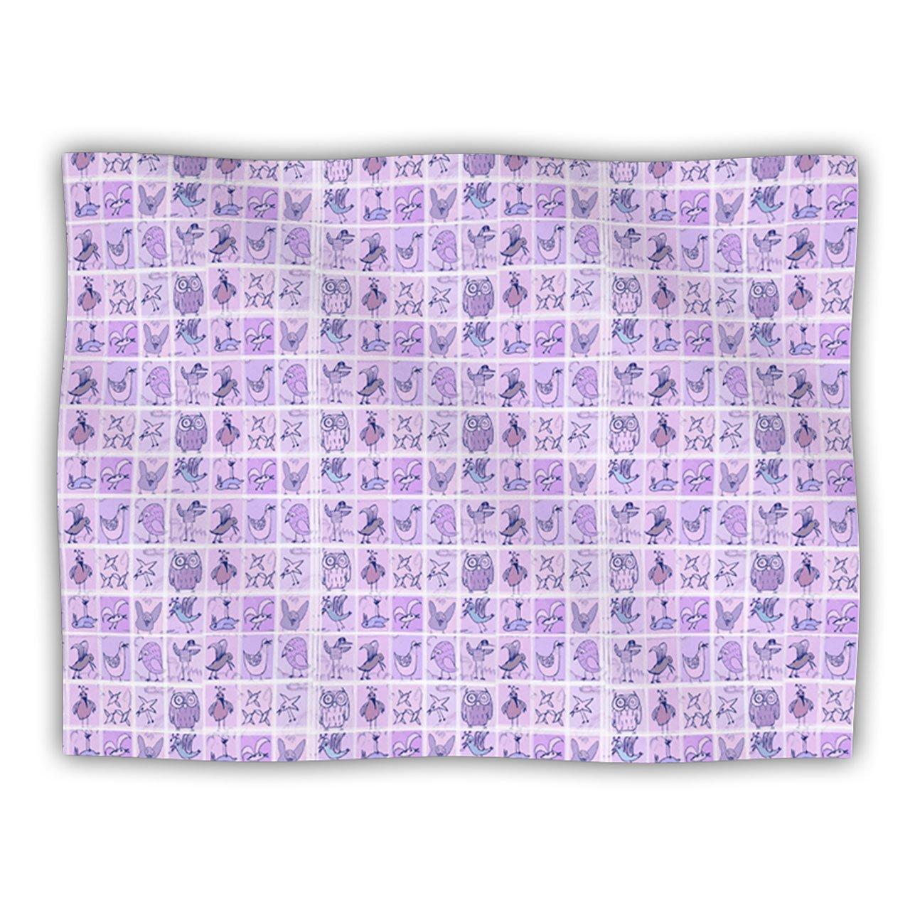 Kess InHouse Marianna Tankelevich ''Cute Birds Purple'' Pet Blanket, 30 by 40-Inch, Pink/Lavender