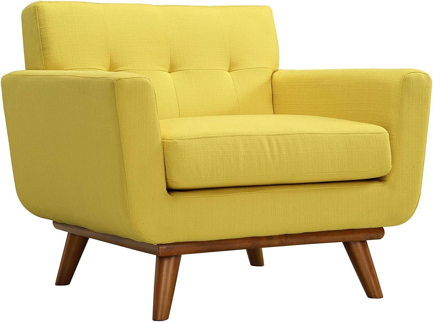 Modway Engage Upholstered Armchair in Sunny