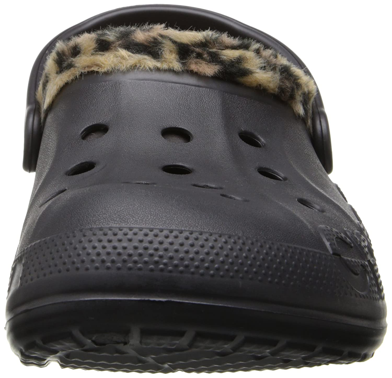 Crocs Crocs Crocs Unisex Baya Leopard Gefüttert Clog Onyx/Gold 683aae