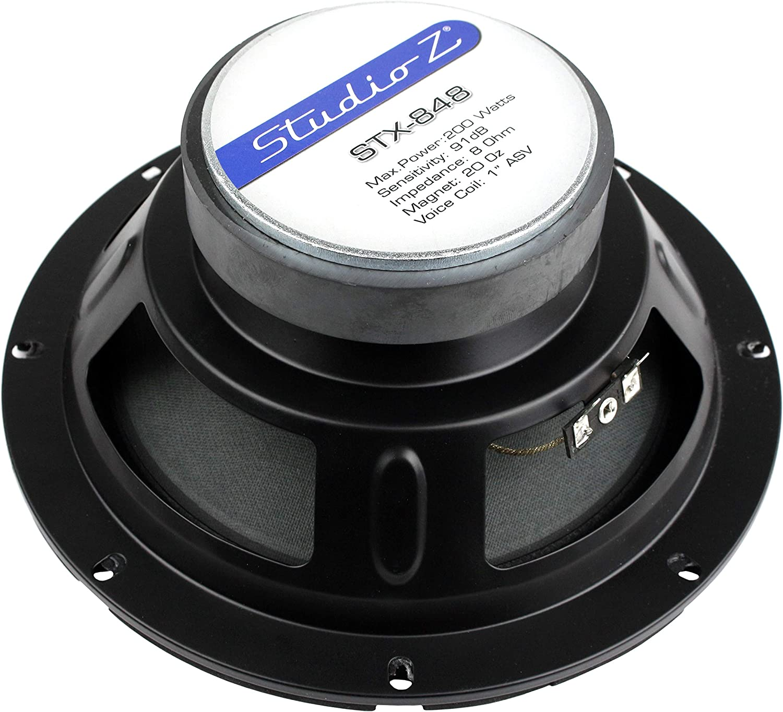 8 Ohm SVC NIPPON STX-848 Studio Z 8 Replacement Woofer 200W Max