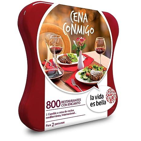 LA VIDA ES BELLA - Caja Regalo - Cena Conmigo - 800 restaurantes de Cocina mediterránea e Internacional
