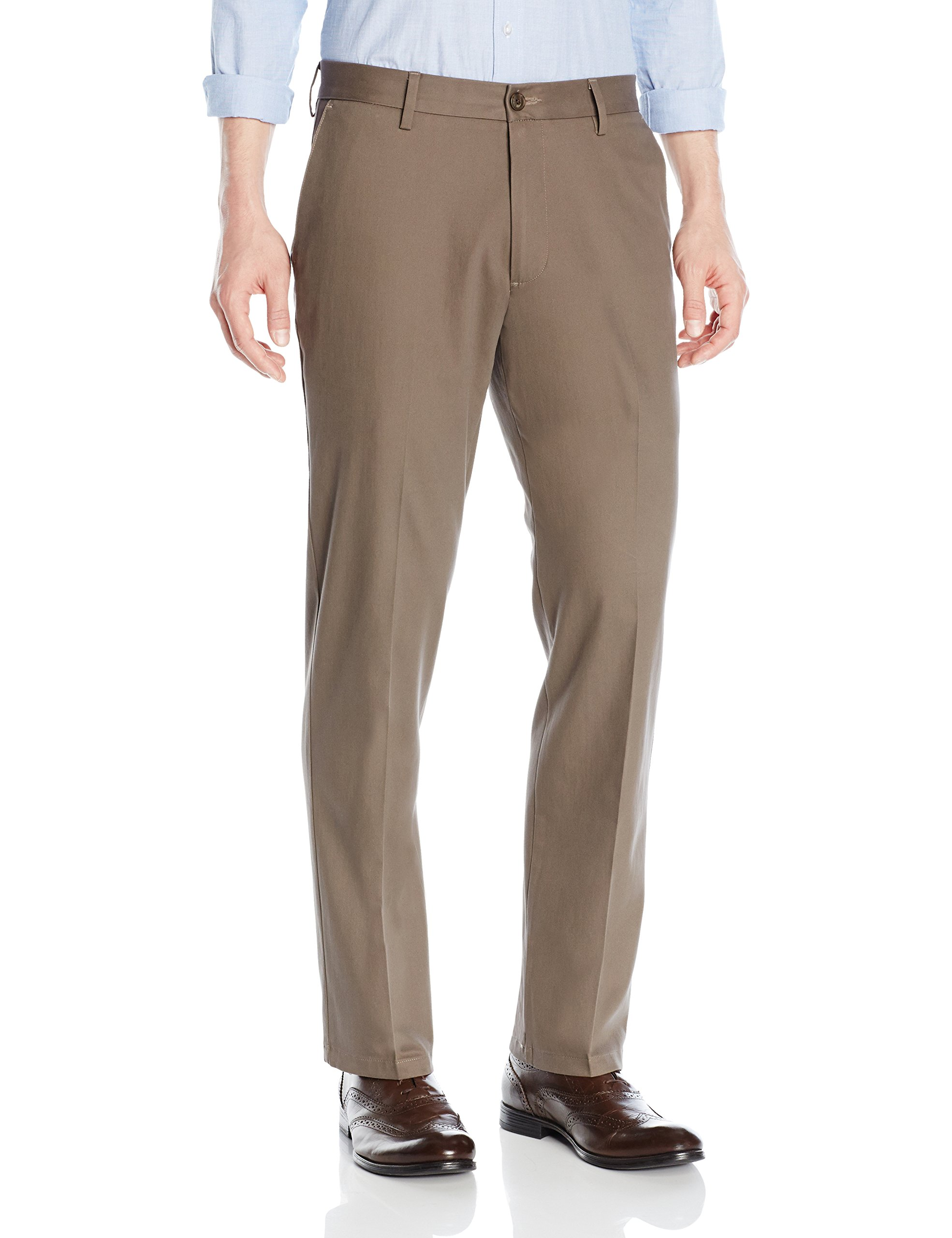 Goodthreads Men's Straight-Fit Wrinkle-Free Dress Chino Pant, Taupe, 31W x 30L