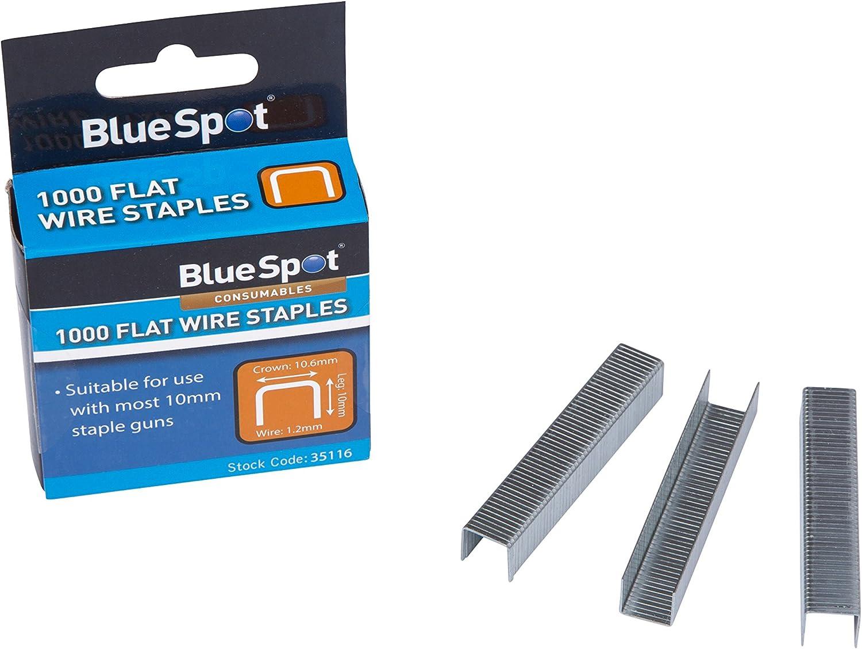 Blue Spot Tools 35116 Grapas planas de alambre para corona T50 color plateado