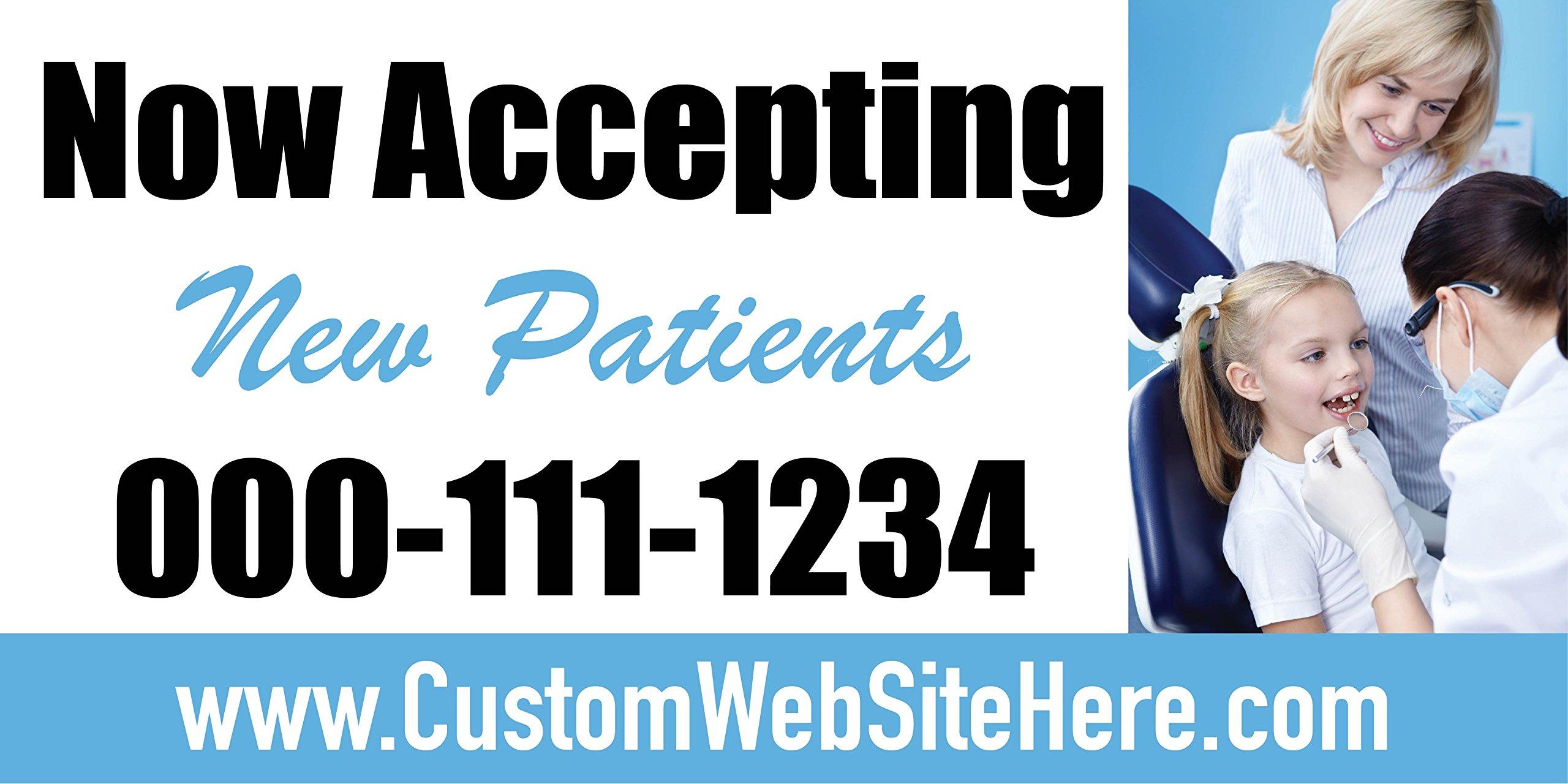 Custom Printed Dentist Banner - New Patients Kid (10' x 5')