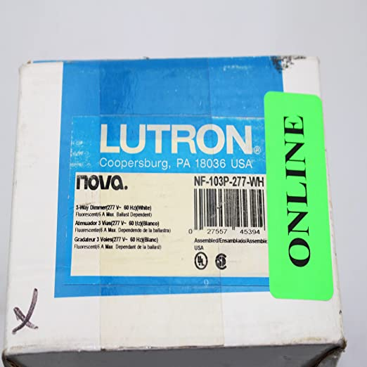 Amazon.com: Lutron NF-103P-277-WH Electrical Distribution Switcher White: Electronics