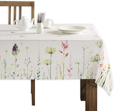 Maison d' Hermine Botanical Fresh 100% Cotton Tablecloth 60 Inch by 108 Inch best spring home decor