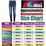 Kids Girls Skinny Jeans Denim Ripped Stretchy