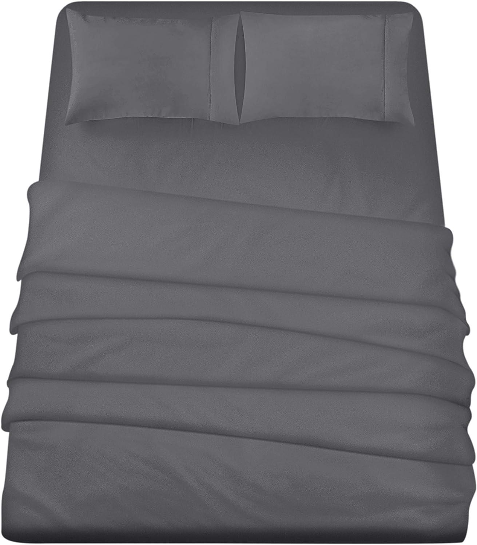 Utopia Bedding 4-Piece California King Bed Sheets Set (Grey)
